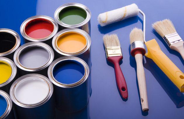 Краски, кисти и валик