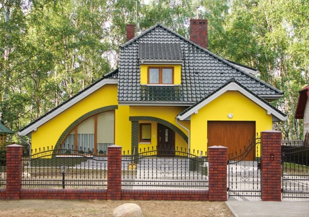 Акриловая фасадную краску можно колеровать в любые оттенки