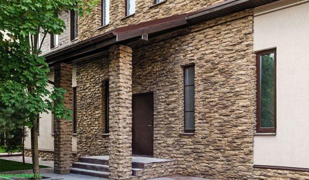 Облицовка декоративным фасадным камнем