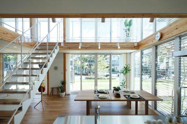 В домах, выполненных в стиле минимализм, много пространства и света
