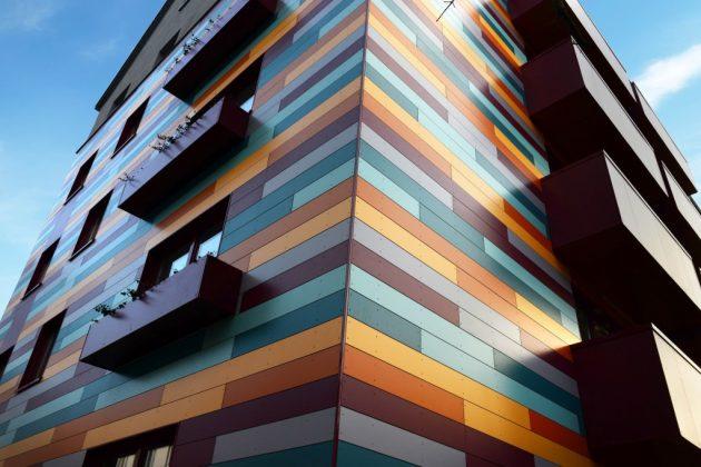 Вентилируемый фасад, материал отделки - алюминиевые композитные панели
