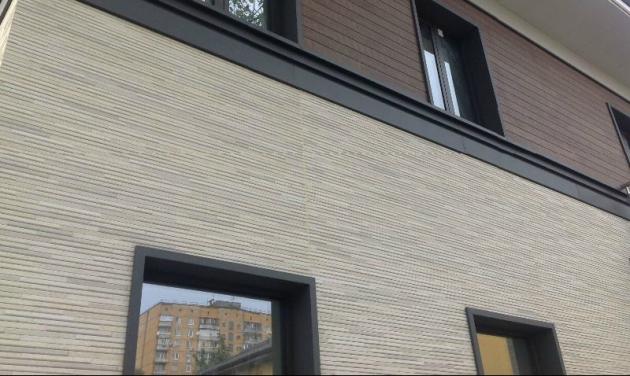 Вентилируемый фасад, материал отделки - панели из фиброцемента