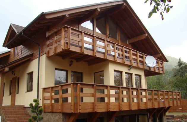 балкон в стиле шале