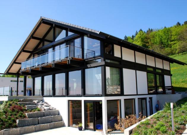 дома по канадской технологии с панорамным видом делаем
