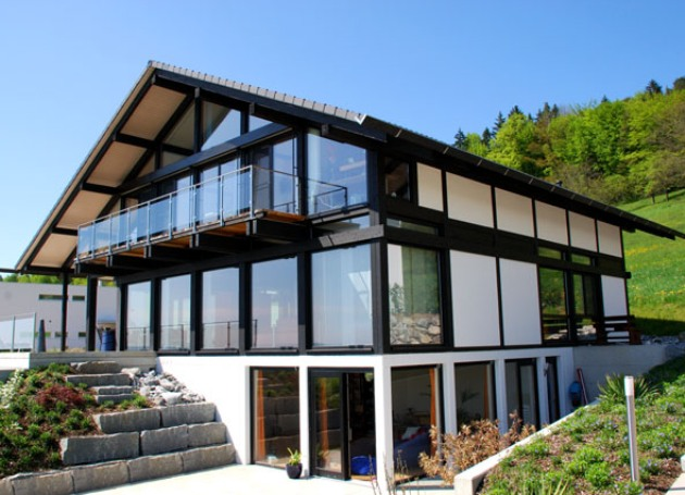 фасад дома в немецком стиле фахверк