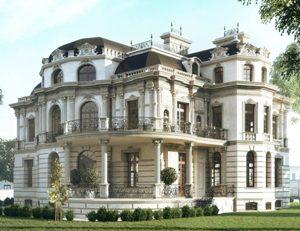вид дома в стиле барокко
