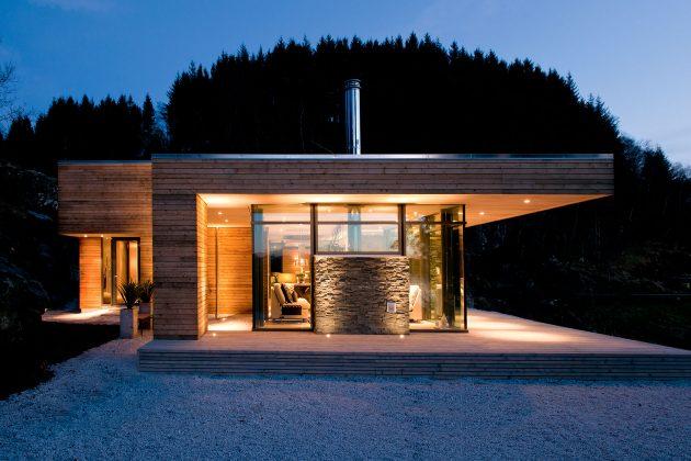 дом класса люкс в скандинавском стиле