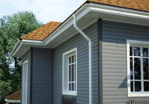 дом, обшитый виниловыми фасадными панелями