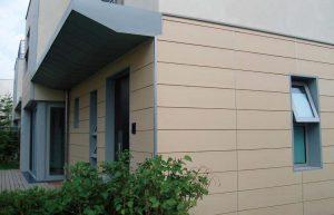 фасад, облицованный керамическими панелями