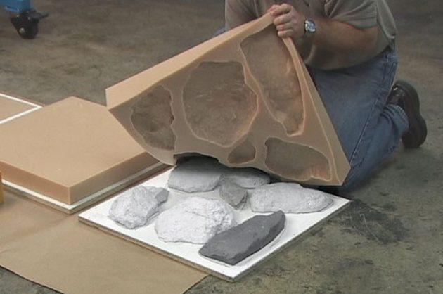 изготовление силиконовой формы для искусственного камня