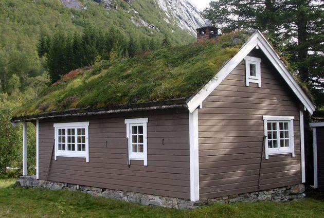 крыша дома в норвежском стиле