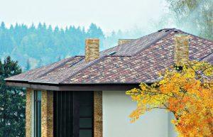 крыша, покрытая черепицей Шинглас