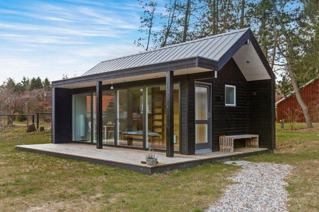 летний домик в норвежском стиле