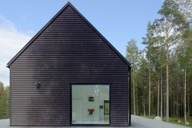 Haus Skandinavischer Stil fassade des hauses im skandinavischen stil foto