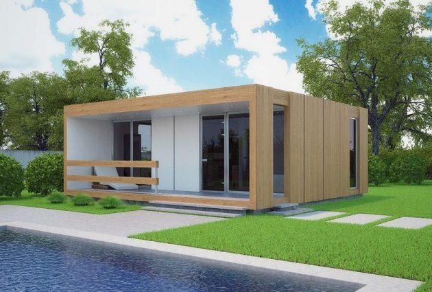 модульный дом в скандинавском стиле