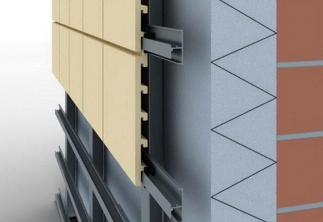 монтаж керамических панелей