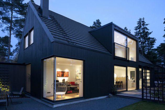 панорамные окна в скандинавском стиле