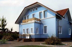 фасад, облицованный вертикальным сайдингом